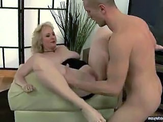 Hot busty grandma getting anal fucked by reno78