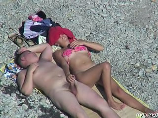 Nudist Beach Small cock Handjob Cock Nudist Beach Outdoor