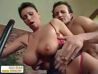 Exotic sexy looking mature gets the cock in her pussy and he