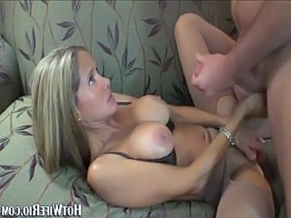 Blonde milg with big natural boobs gets rammed hard