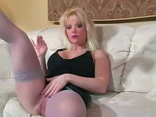 Smoking Blonde  Milf Stockings Stockings