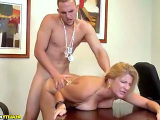 Office Doggystyle Hardcore Boss Doggy Busty Hardcore Mature