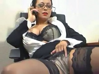 Secretary Lingerie Masturbating Milf Ass Milf Lingerie Milf Office