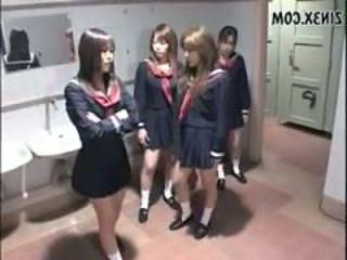 Toilet Student Uniform Asian Teen Domination Japanese Teen