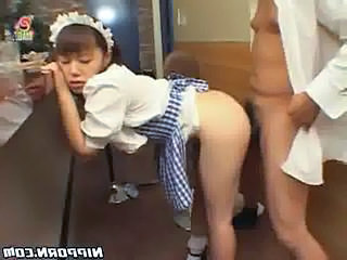 Maid Teen Uniform Asian Teen Clothed Fuck Doggy Teen