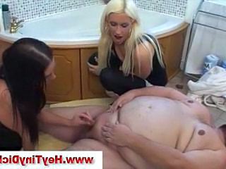 Small cock Funny Bathroom Cfnm Handjob Handjob Cock Old And Young