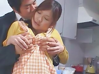 Kitchen Wife Cute Asian Babe Boobs Cute Asian