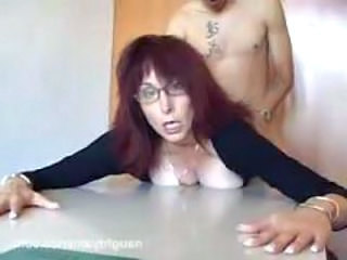 Redhead Doggystyle Glasses Glasses Mature Mature Ass