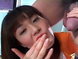 Emaciated female Karoi Houjou mouthjob and wanking