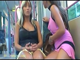 Naughty lesbians have public se ... free