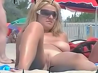 Beach Shaved Voyeur Glasses Busty Milf Ass