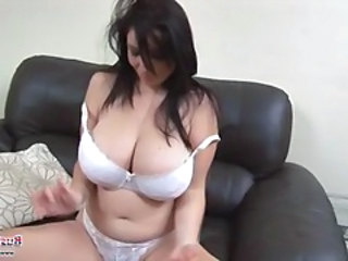 Busty brunette Michelle Monaghan goes solo and toys her pussy
