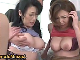 Nipples Threesome Natural Asian Mature Glasses Mature Japanese Mature