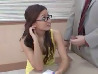 Glasses Handjob  Classroom Old And Young Teacher Student