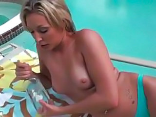 Blonde with gorgeous body gets oiled up and massaged tubes