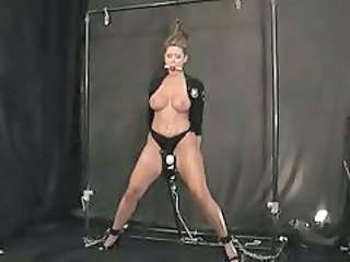 Babe is bound and and drooling and loves BDSM tubes