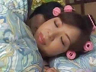 Sleeping Asian Mom Sleeping Mom