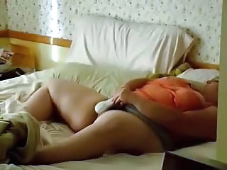 Coming back at home I caught my mom masturbating