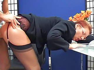 Secretary Clothed Stockings Clothed Fuck Glasses Mature Mature Ass