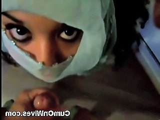 Arab wife big facial