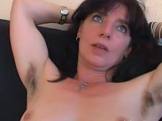 Video from: dr-tuber | Hairy mature amateur in panties spreads her pussy