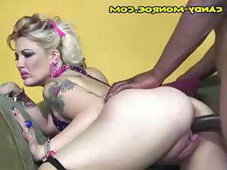 Cuckold hubby watches tattooed blonde wife and a