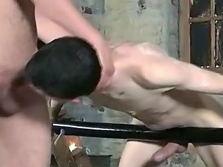Video from: h2porn | Horny tied up stud wrapping his lips around a cock