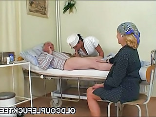 Grandpa fucks hot slutty nurse
