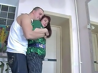 Hard fucked plump brunette russian lady with small tits