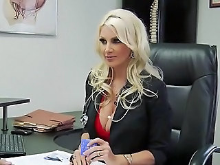 Fake blond doctor with big boobs banged hard