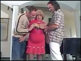 hottest granny with 2 guys