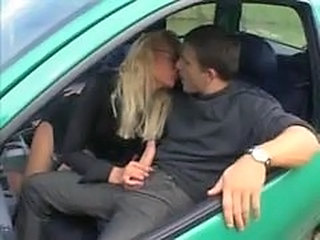 Car Handjob French French Milf