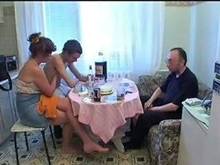 Family Mom Old and Young Daddy Family Homemade Mature