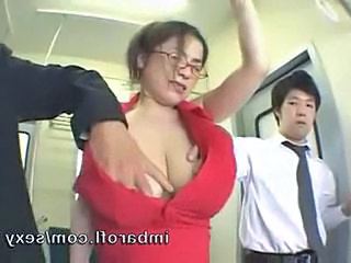 Anna ohura massage boobs subway