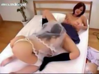 Busty Bride Licking Pussy Getting Licked Fingered On The Bed