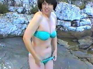 Beach Bikini MILF First Time Nudist Beach Outdoor