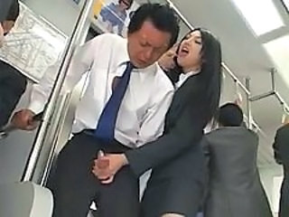 Video from: pornhub | Asian Handjob In Bus