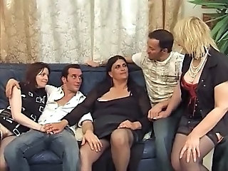 French Moms Hardcore Group Sex