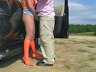 Car Handjob Legs Outdoor Pantyhose Outdoor Pantyhose Ejaculation Outdoor Amateur