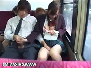 Upskirt Bus Asian Bus + Asian Forced Handjob Asian