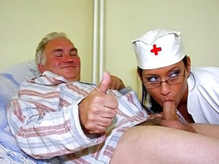 Small cock Nurse Uniform Blowjob Teen Dad Teen Daddy