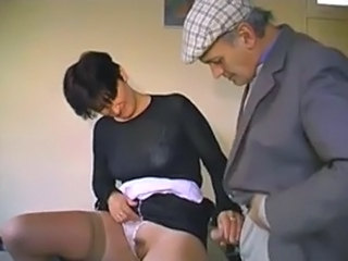 French old man Papy and the waitress gangbang free