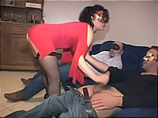 Amateur brunette wife loves a good gangbang and gets fucked