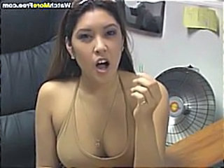 Masturbating Workaholic Asian Booby