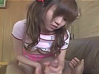 Pigtail Handjob Small Tits Asian Teen Chinese Handjob Asian