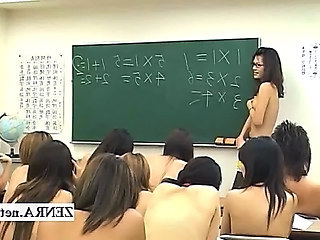 Shy nude in school Japan schoolgirls and milf teacher