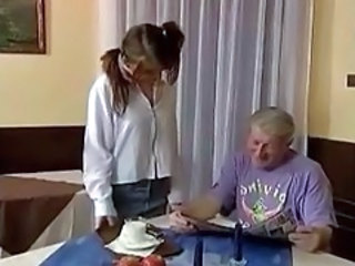 Grandpa Plays With Teen
