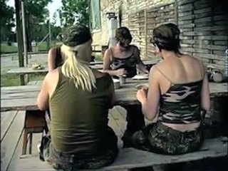 Army MILF Outdoor Uniform Outdoor Ejaculation
