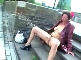 Upskirt public masturbation and nude outdoor flashing...