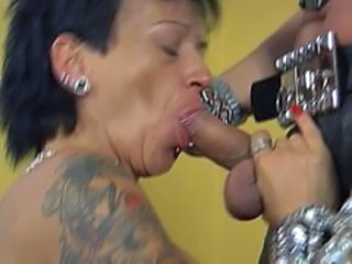 Piercing Tattoo Goth Blowjob Mature Mature Blowjob